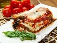 Рецепта Мусака с патладжани, кайма и сирене моцарела за заливка
